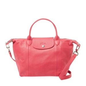 Longchamp Satchel in Deep Pink