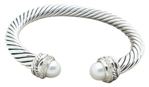 David Yurman DAVID YURMAN David Yurman Cable Classics Bracelet with Pearls and Diamonds, 7mm