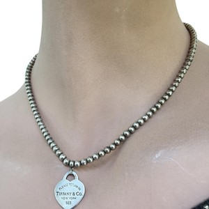 Tiffany & Co. authentic tiffany&co bead and heart pendent necklace