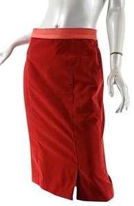Louis Vuitton Straight Pencil Skirt Red