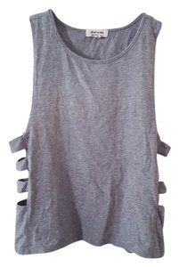 heart & hips Caged Knit Caged Festival Top Gray