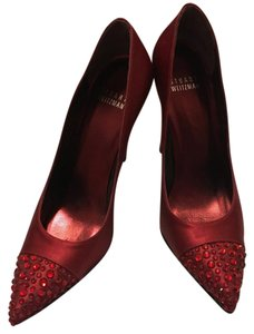 Stuart Weitzman Ruby Satin Pumps