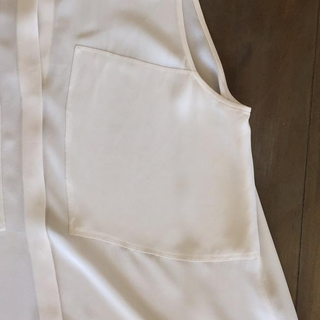 Theory Button Down Shirt Off white- beige