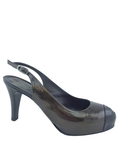 Chanel Pewter Pumps