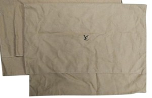 Louis Vuitton AUTH Louis Vuitton LV Logo Medium Large Fold Over Dust Bag