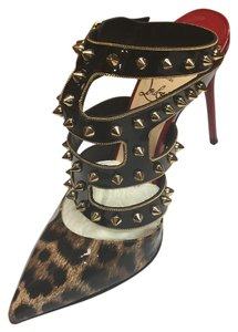 Christian Louboutin Black/Cheeta Platforms