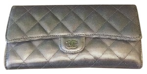 Chanel Metallic Wallet CC Logo
