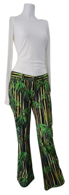 30%OFF Dolce&Gabbana D&g Safari Bamboo Print Wide Leg Pants 29/43 Relaxed Fit Jeans-