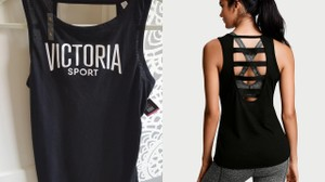 Victoria's Secret Victorias Secret VSX Logo open-back yoga gym tank top tee XS