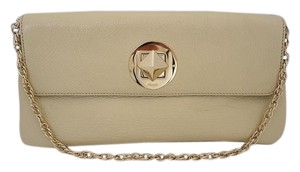 Kate Spade Chain Handbag Beige Clutch
