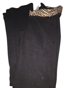 Victoria's Secret #vs #pink #victorias Secret #yoga Pants Black with leopard top Leggings