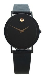Movado Movado Museum Unisex Quartz Wristwatch Black PVD Stainless Steel