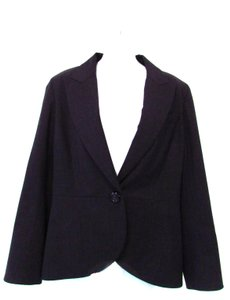 Lafayette 148 New York Single Button Charcoal Blazer