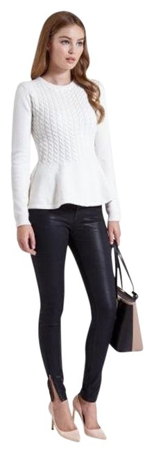 Preload https://img-static.tradesy.com/item/20202676/burberry-london-gray-wool-cashmere-cable-knit-peplum-sweaterpullover-size-4-s-0-1-650-650.jpg