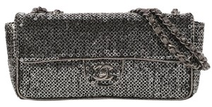 Chanel East/west Ch.k1102.04 Metallic Sparkle Shimmer Shoulder Bag