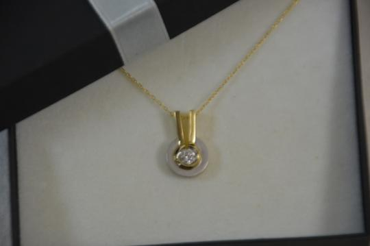 Preload https://img-static.tradesy.com/item/20202766/white-and-yellow-gold-025ct-genuine-diamond-14k-two-tone-18-chain-necklace-0-0-540-540.jpg