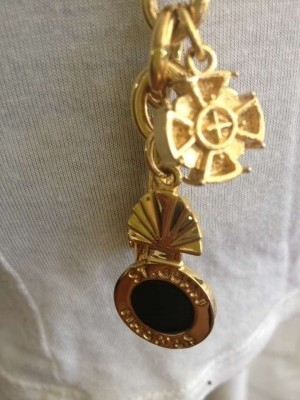 St. John Authentic Gold Charm