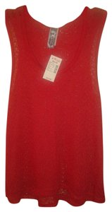 DEB Lace Hooded Sleeveless T Shirt Burnt Orange