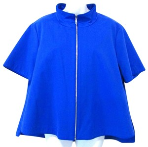 Lafayette 148 New York Short Sleeve Blue Jacket