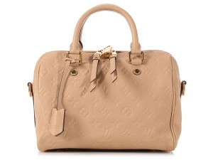 Louis Vuitton Lv.k1006.09 Beige Nude Embossed Leather Satchel