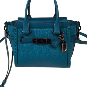 Coach Satchel in Turquoise