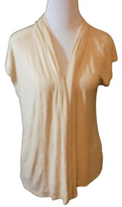 Talbots Top Beige and ivory