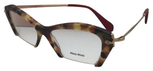 Miu Miu MIU MIU Eyeglasses VMU 03O UA5-1O1 53-17 Tortoise Red & Gold Cat-Eye