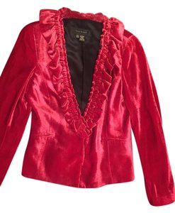 Zara Rayon Valour Silk Lining red, crimson Blazer