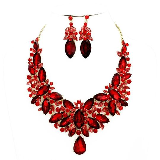 Preload https://img-static.tradesy.com/item/20203075/siam-red-gold-rhinestone-crystal-statement-and-earrings-necklace-0-1-540-540.jpg