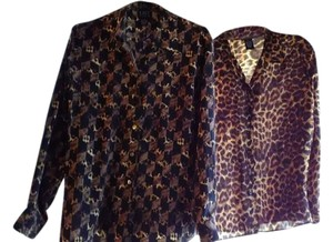 City Silk Top Leopard prints