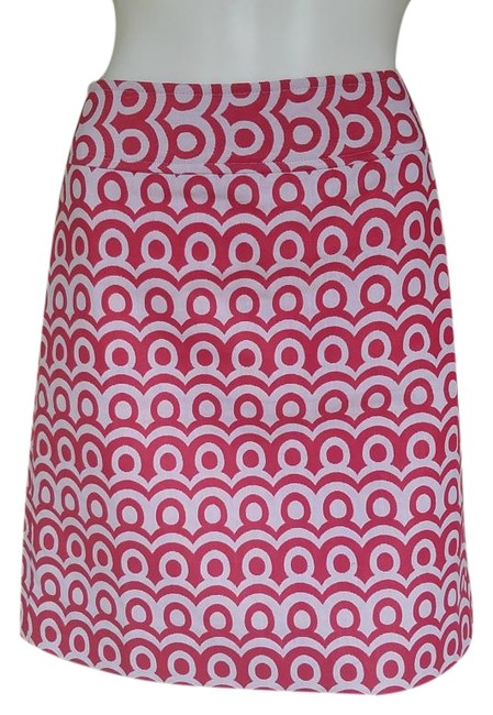 Preload https://img-static.tradesy.com/item/20203116/ann-taylor-pinkwhite-circles-cotton-blend-knee-length-skirt-size-4-s-27-0-1-650-650.jpg