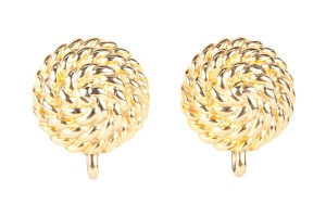 Givenchy Givenchy Gold Twisted Coil Clip On Earrings