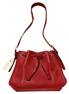 Kenneth Cole Leather Drawstring Shoulder Bag