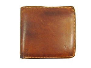 Louis Vuitton Mens Marco Nomad Tan Leather Bifold Wallet