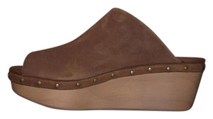 Urban Outfitters Simple Clean Basic Hipster Brown Mules