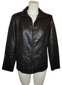 Preston & York Lambskin Leather black Leather Jacket
