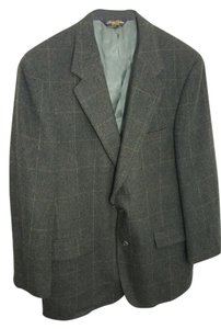 Brooks Brothers Mens Size 40 Plaid Sport Jacket Green Blazer
