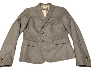 J.Crew Wool Flannel School Boy Gray Blazer