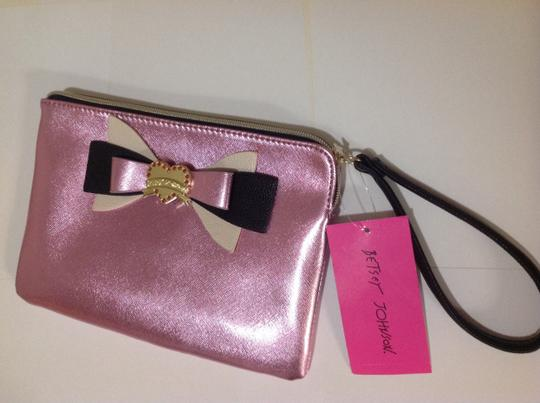 Betsey Johnson Pink Bow Wristlet