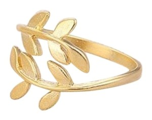 Other New Adjustable Gold Leaf Ring, Gold Ring Dainty ring, Christmas Gift