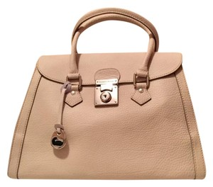Dooney & Bourke Pebbled Leather Fully Lined Satchel in Cream