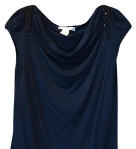 Design History Top Dark blue