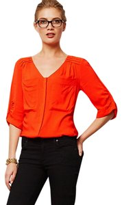 Anthropologie Comfy Silky Top Red