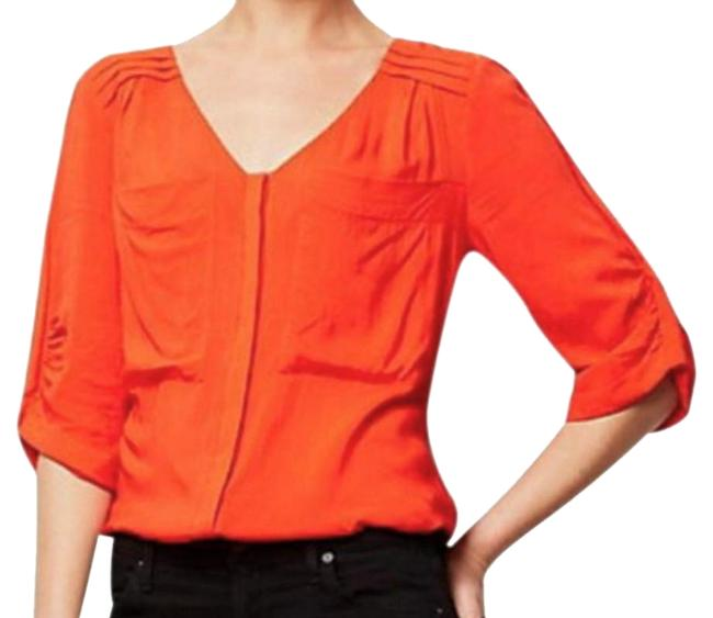 Preload https://img-static.tradesy.com/item/20203443/anthropologie-red-drapey-pleated-henley-blouse-size-petite-10-m-0-15-650-650.jpg