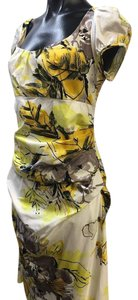 Suzi Chin short dress Yellow Floral on Tradesy