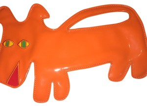 Moschino Orange Clutch