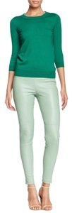 Catherine Malandrino Leather Skinny Pants Green