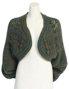 Anthropologie Knit Romantic Crop Cardi Marled Hazel Cardigan
