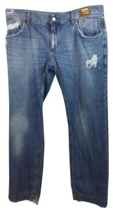 Dolce&Gabbana Dolce & Gabbana Light Wash Rip Blue Denim 011 Men's Jeans 56
