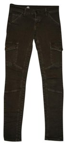 Current/Elliott Womens Black Pistola Holiday Gift Skinny Jeans-Distressed